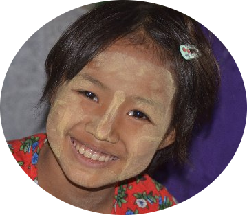 A Girl with Thanakha